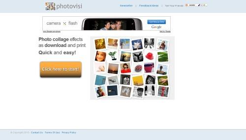 Photovisi-homepage